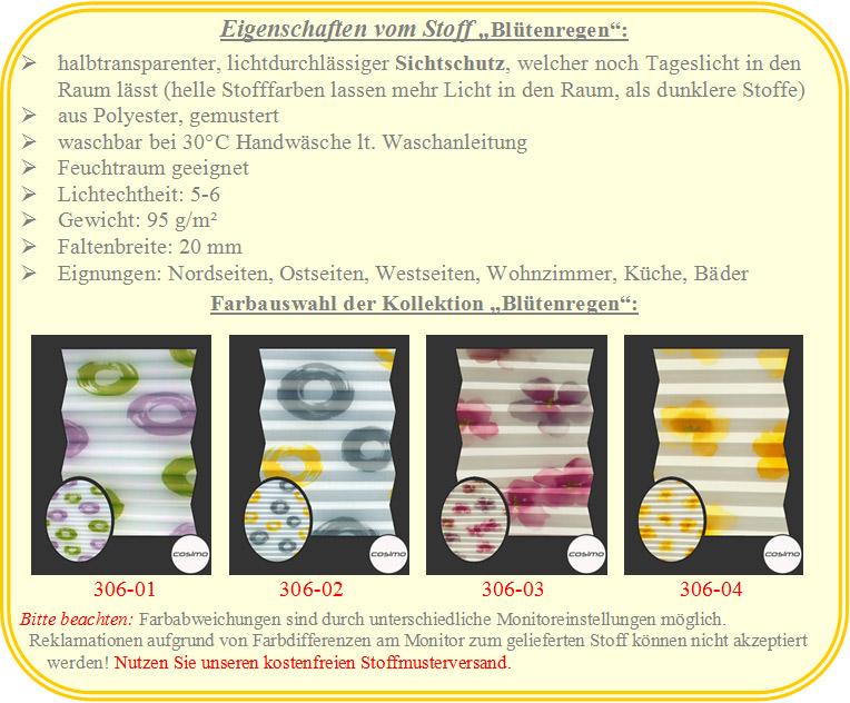 Plissee Rollos florale Blütenmuster Faltstores Blumen Breiten: 80,1 ...